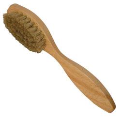 Brosse cirage poils blancs