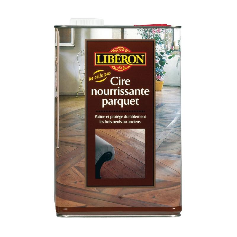 Cire parquet liberon incolore 5l for Produit liberon bois