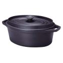 Cocotte ovale 35cm 7,4 litres en fonte noire - Invicta
