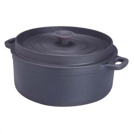 Cocotte fonte ronde en fonte noir 16cm