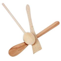 Cuillère + spatule en biseau et ronde
