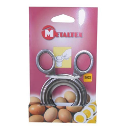 Tranche coque œuf en inox METALTEX