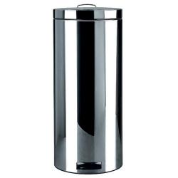 Poubelle à pédale 30l motion control brilliant steel
