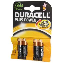 Pile alcaline AAA/LR03 Duracell Plus Power x 4