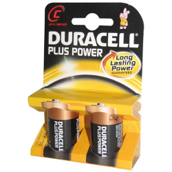 Pile alcaline C/LR14 Duracell Plus Power x 2