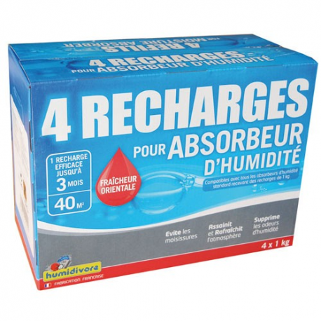 recharge absorbeur x4 oriental 1kg humidivore puret de l 39 air les recharges d 39 absorbeurs. Black Bedroom Furniture Sets. Home Design Ideas