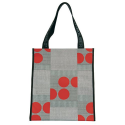 Sac shopping Rolser gris ronds rouge