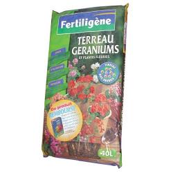 Terreau géranium avec engrais 40l - Fertiligène