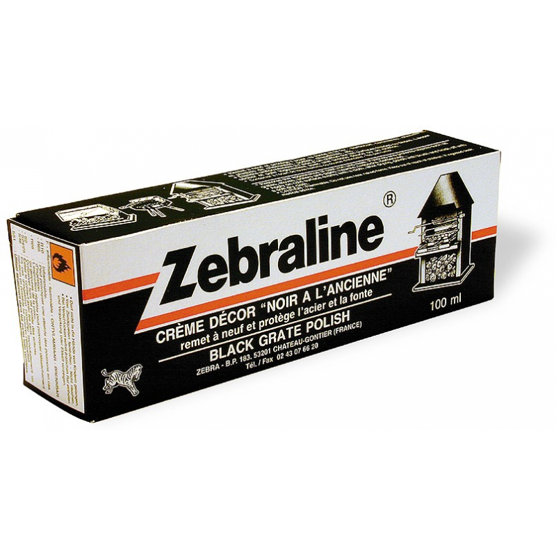 Zebraline p te tube noire 100ml for Nettoyer de la fonte