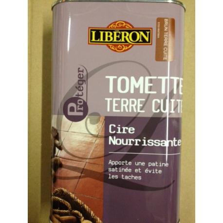 Cire tomette 1L brun terre cuite LIBERON