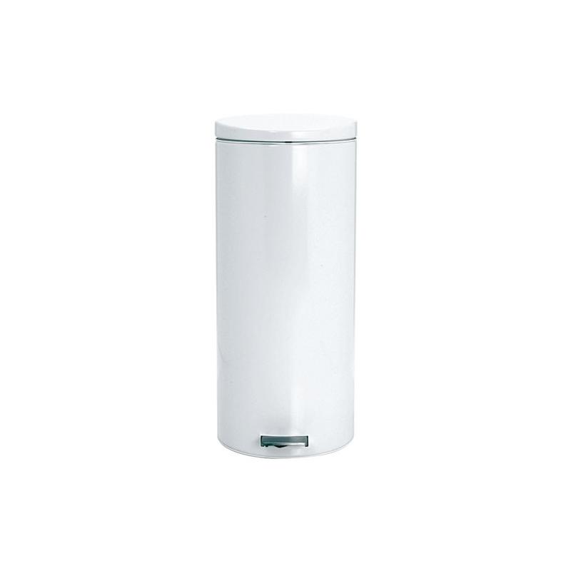Poubelle p dale 30l motion control blanc les poubelles - Poubelle brabantia 30l pedale ...