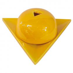 Bruleur papier Arménie céramique jaune