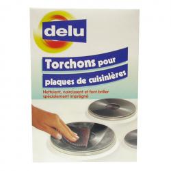 Delu nettoyant Torchons pour plaques électrique et cuisinières 3p 24x9CM
