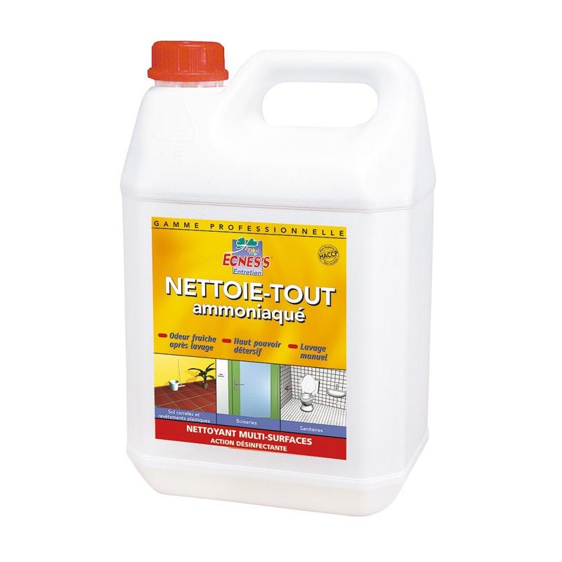 Ecness nettoie-tout ammoniac 5L-Entretien Multi usage