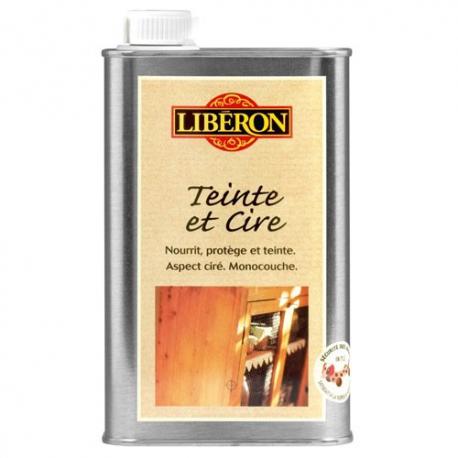 Teinte et cire liberon bois vieilli 0 5l for Produit liberon bois