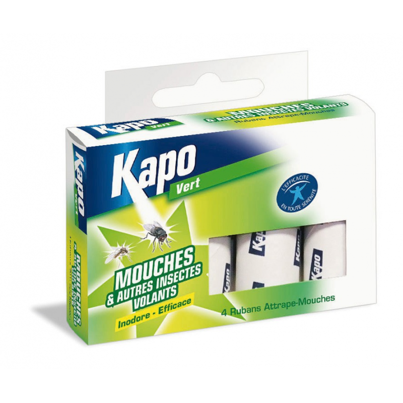 Kapo attrape mouche ruban tui 4 insecticides insecte for Attrape mouches maison