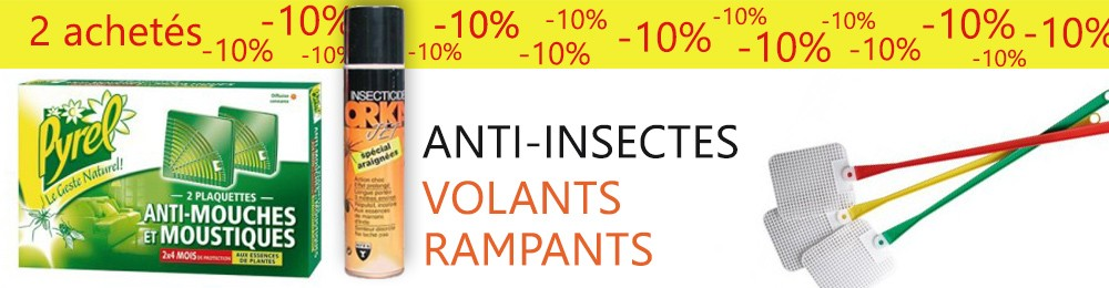 Insecticides volants rampants